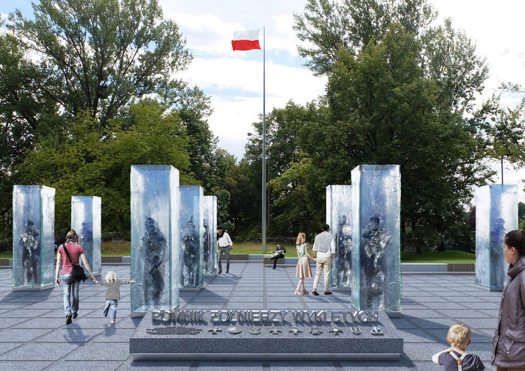 Pomnik Żołnierzy Wyklętych ze szkła we Wrocławiu - Tomasz Urbanowicz i Konrad Urbanowicz