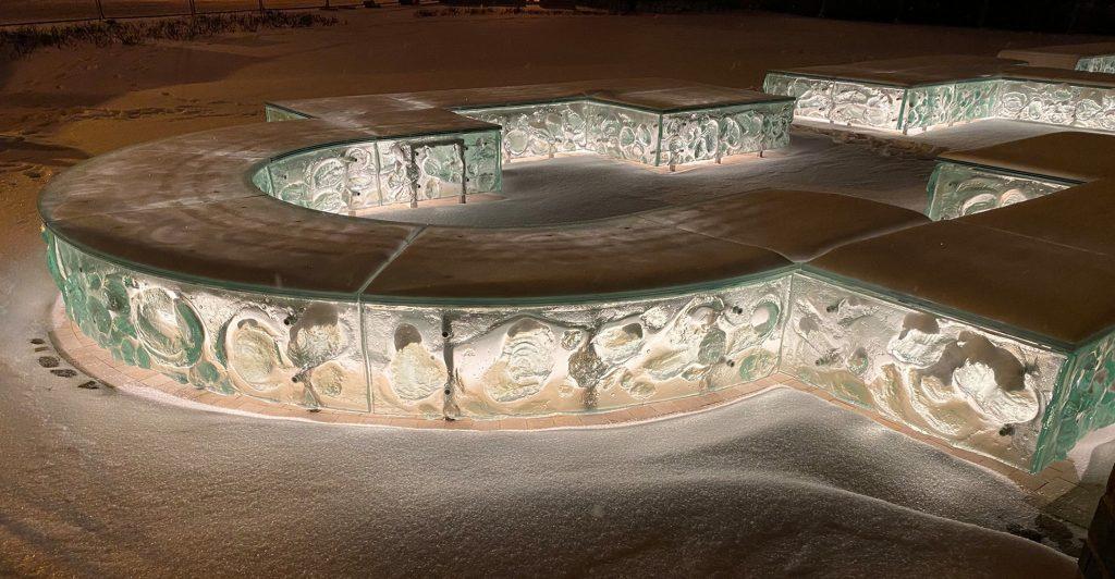 Glass Art Palatium Ostrów Tumski Poznań ARCHIGLASS Tomasz Urbanowicz and Konrad Urbanowicz