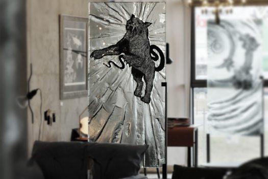 """ARCHIGLASS Tomasz Urbanowicz, prof. Przemysław Tyszkiewicz, Grafika w Szkle Artystycznym. Prints in Glass Art. """"3000 lat gwarancji"""" Corsydiany, Powidok"""
