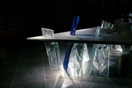 Artistic glass design by Archiglass, Tomasz Urbanowicz at Karkonosze Museum in Jelenia Gora, Poland